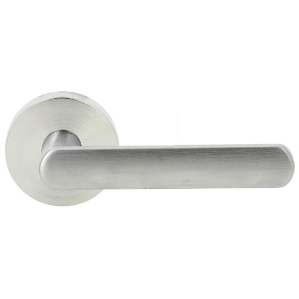 Дверная ручка Extreza Hi-tech «AQUA» (Аква) 113 R12 матовый хром F05