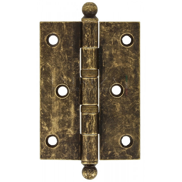 Петля универсальная латунная Extreza 5110 102x75x3 мм античная бронза F23