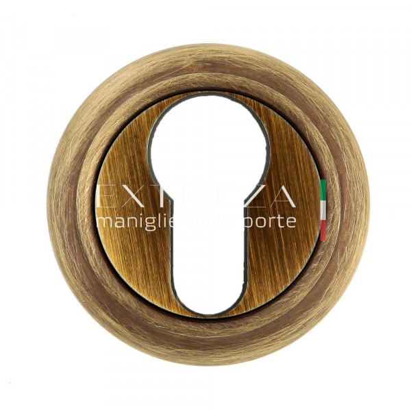 Накладка дверная Extreza CYL под цилиндр R01 матовая бронза F03