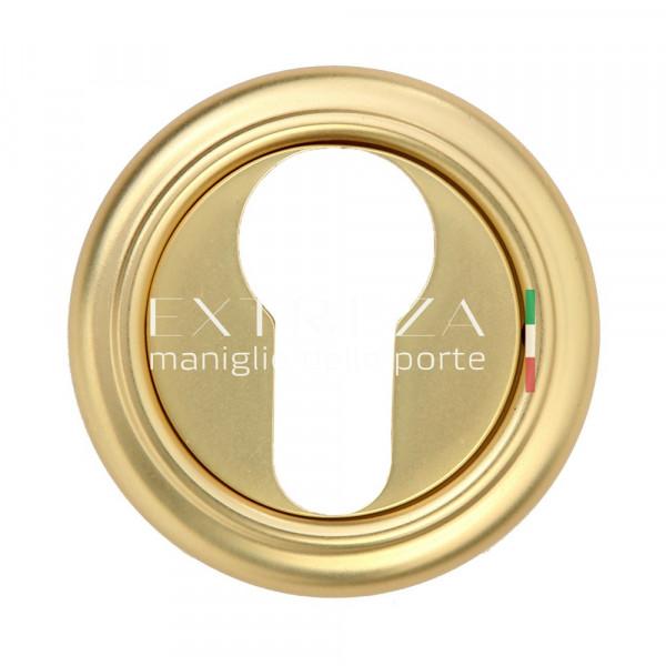 Накладка дверная Extreza CYL под цилиндр R01 французское золото + коричневый F59